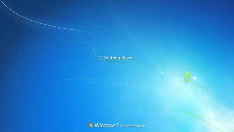 مشكلة في ويندوز 7 تمنع المستخدمين من إيقاف تشغيل أجهزتهم
